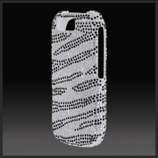 for Motorola I1 Opus 1 Silver Zebra bling rhinestone diamond crystal