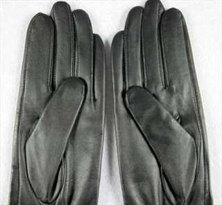 Fashion Women Long Genuine Leather Gloves 40cm Black