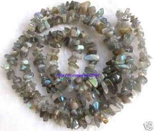 AA 5 9mm Natural Labradorite Freeform Chips Beads 34