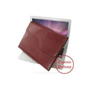 PDair Red Crocodile Pattern P02 Leather case for Apple