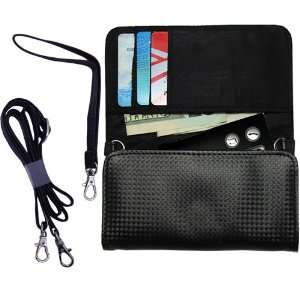 Black Purse Hand Bag Case for the Oticon Streamer with both a hand and