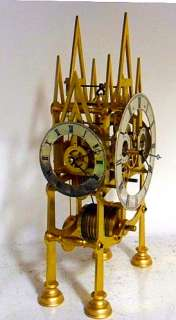 Fusee Skeleton Clock With Three Different Side Dials