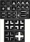 Model Works 148 WWII German Aircraft Markings Stencils AW001