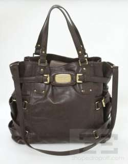 Michael Michael Kors Brown Leather Gansevoort Large Tote Bag