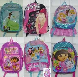 Disney Princess Dora & Hannah Montana Backpacks NEW