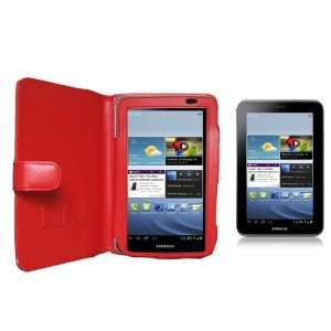 Navitech Red Leather Carry Case / Cover for the Samsung