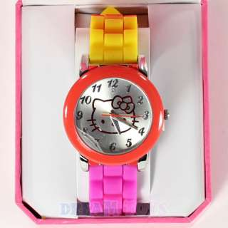 Sanrio Hello Kitty Tye Dye Gel Band Wrist Watch