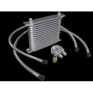 Aluminum Universal 16 Row Oil Cooler Kit High Performance