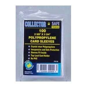 Collector Safe Soft Card Sleeve (Qty= 25 bags of 100