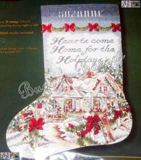 Bucilla HOLIDAY AT HOME House Counted Cross Stitch Christmas Stocking