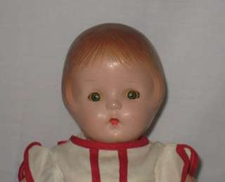 1930s AMERICAN CHARACTER 12 COMPOSITION PATSY TYPE SALLY DOLL