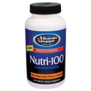 Vitamin Shoppe   Nutri 100 W/O Iron, 100 tablets Health