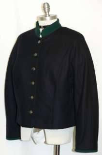 BLACK ~ BOILED WOOL Western Germany Women GERMAN Dress Suit JACKET