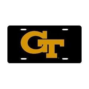 Georgia Tech Yellow Jackets Black Laser Cut License Plate Sports