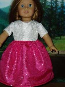 Pink Glitter Dress 18 Doll Clothes Fits American Girl