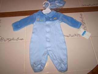 NWT NEW LIL WONDER SLEEPER ZOO ANIMALS CUTE BOY PREEMIE