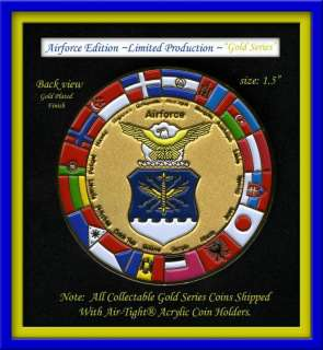AIRFORCE IRAQI MILITARY CHALLENGE COIN GOLD SERIES®