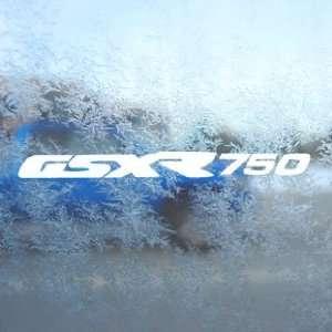 Suzuki White Decal GSXR 750 Car Laptop Window Vinyl White
