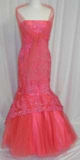 Ball Gown Dress Party Evening Cocktail Hot Pink 2XL 16