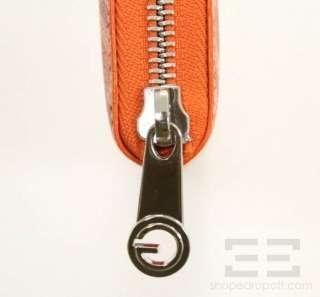 Goyard Orange Chevron Coated Canvas & Leather Large Zip Around Wallet