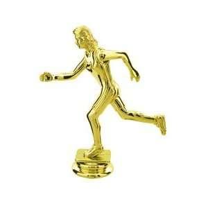 Gold 5 Female Trophy Figure Trophy