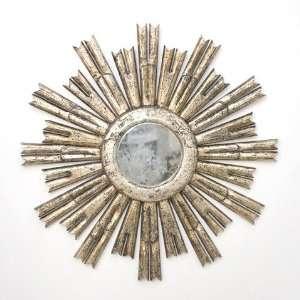 Rinaldo Silver Leaf Starburst Mirror