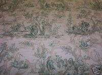 Designer Fabric 25 yds green/gold toile