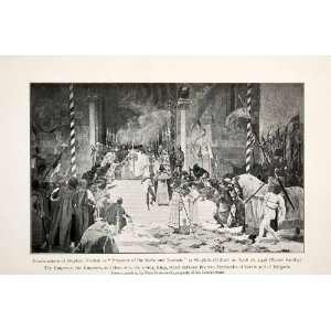 1910 Print Emperor Serbs Romans Stephan Dushan Uskub Royal Knight