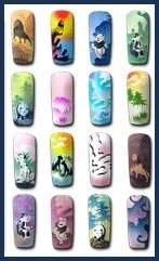 Airbrush STENCIL Designs Nail art Crafts Animals #A10