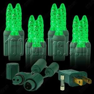 (100 LED) Green   Christmas Mini Light System   Kit with