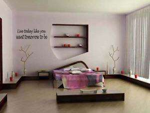 LIVE TODAY Home Bedroom Vinyl Wall Art Decal 24