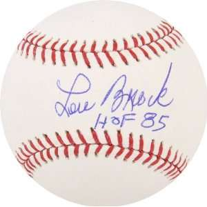 Lou Brock Autographed Baseball, with HOF 85 Inscription