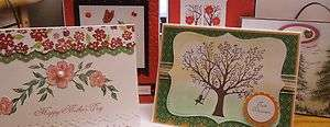 Stampin Up Handmade Cards~ Mothers day~friendship~Just because~New
