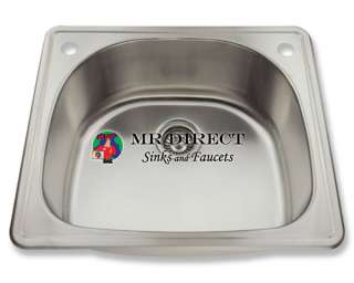 Stainless Steel Single Bowl Kitchen Sink Gauge New