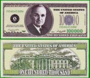 25 Factory Fresh Harry Truman 100,000 Dollar Bills