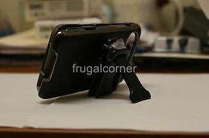 BodyGlove HTC HD7 HD7S Chrome/Black Hard Leather Case Cover+Belt Clip