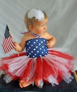 NEW 4th July baby girl tutu dress Newborn up to 6 month