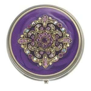 Gothic Romance Purple Bejeweled Mint Pill Box: Health & Personal Care