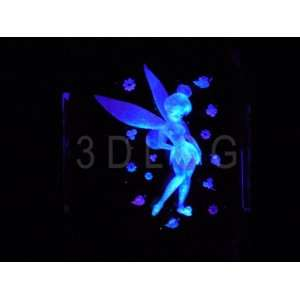 Disney Tinkerbell Standing with Flowers 3D Laser Etched