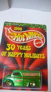 1998 Hot Wheels 30 years of Happy Holidays Mattel Employee only Dairy