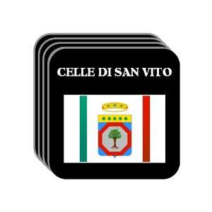 Apulia (Puglia)   CELLE DI SAN VITO Set of 4 Mini Mousepad Coasters