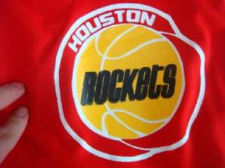 VINTAGE HOUSTON ROCKETS NBA SAND KNIT WARM UP PANTS SZ L DEADSTOCK