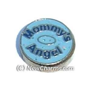 Mommys Angel Floating Locket Charm Jewelry