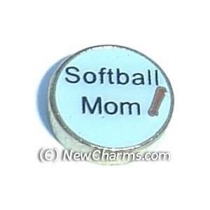 Softball Mom Floating Locket Charm Jewelry