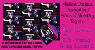 Personalised Wrapping Paper & Tag Set Michael Jackson