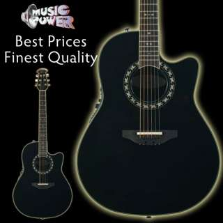 Ovation 2077AX 5 Legend Acoustic Electric Guitar Black