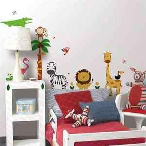 Wall Stickers JUNGLE Room Decor SAFARI Nursery Decals KIDS BM1