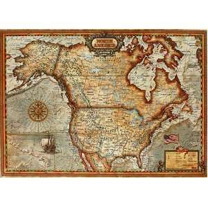 North America Map Jigsaw Puzzle Toys & Games