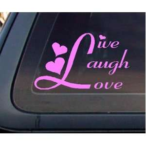Live Laugh Love Car Decal / Sticker   Light Pink