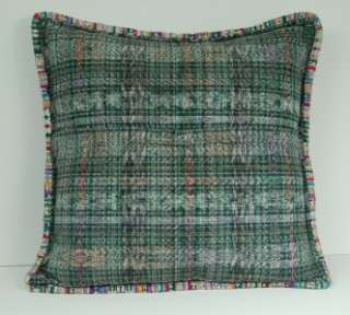 MEXICAN FOLK ART HANDMADE EMBROIDERY COLOR FLORAL PILLOW CASE CUSHION